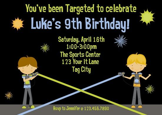 Awesome Laser Tag Birthday Party Invitations Ideas Download This Invitation For FREE At Bagvania