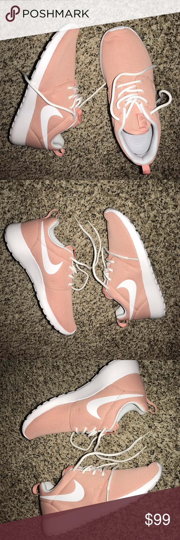 ede8b04e7835 NIKE ROSHE ONE - WOMEN S New with tags Selected Style  Coral Stardust White  Mesh