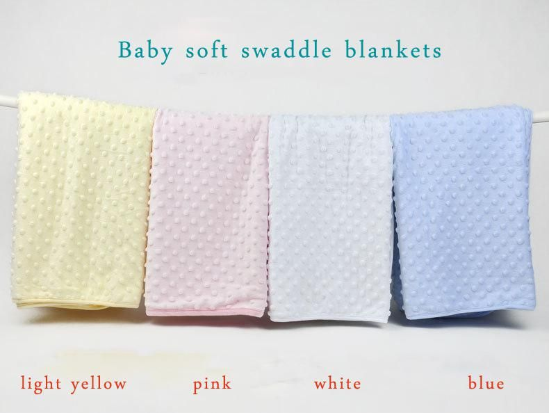Super Soft 100 Cotton Baby Wrap Blanket Blue Pink Yellow White Color Toddler Blanket Bedding Set Win Baby Receiving Blankets Baby Wrap Blanket Toddler Blanket