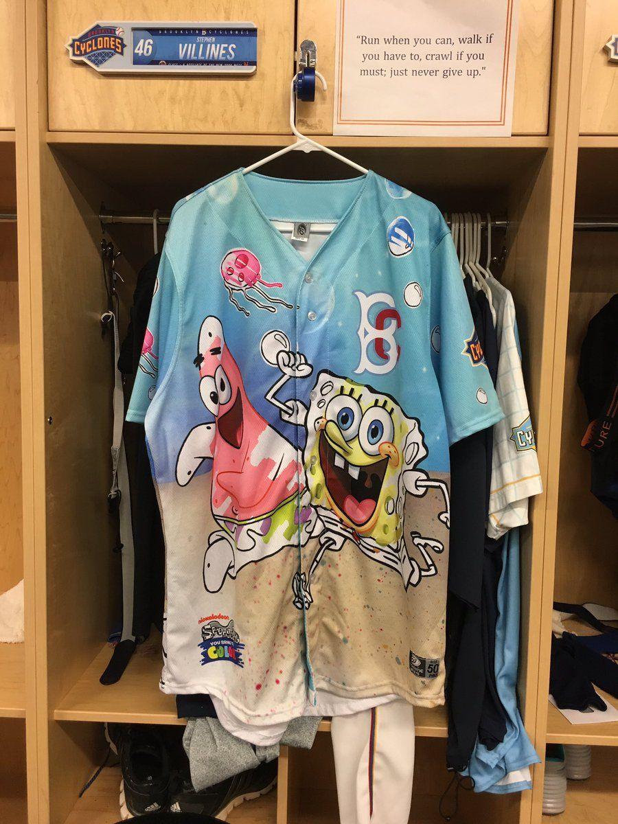 877f79204 Via Brooklyn Cyclones on Twitter  jerseys for SpongeBob SquarePants Day