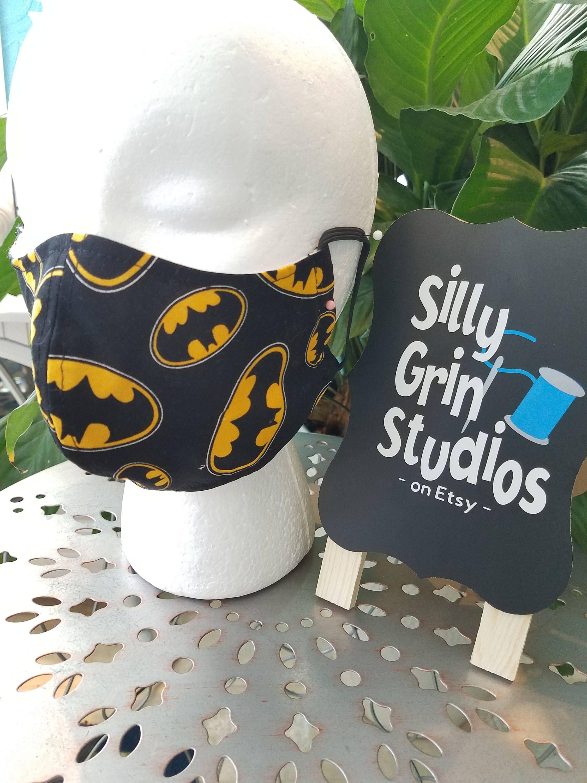 100% Cotton Face Mask Batman -Groomer Mask-Nail Tech Mask - Flu Mask ...