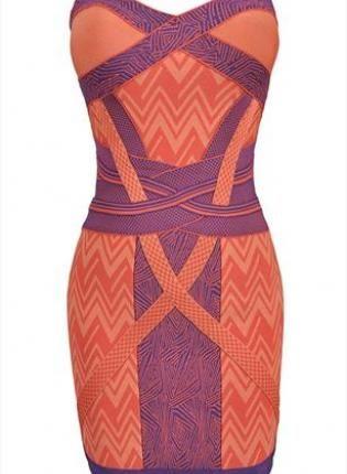 Geometric Strapless Bandage Bodycon Dress,  Dress, bandage dress  party dress, Chic
