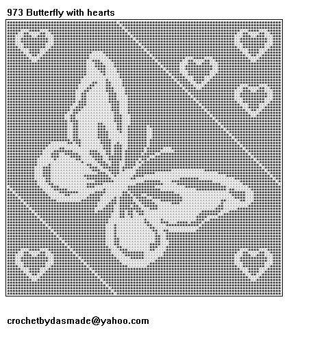 Love Birds Filet Crochet Doily Afghan Pattern Item 444