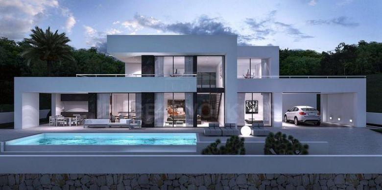 Modern Villas In 2019 Facade House Modern House Plans