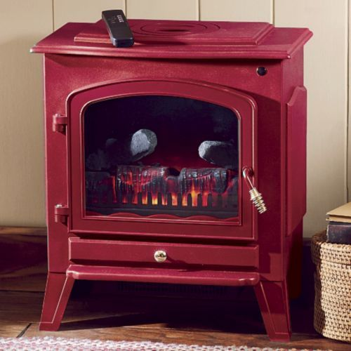 Green Or Red Electric Fireplace From Through The Country