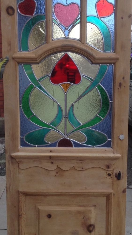 Reclaimed And renovated Original Victorian Vestibule Stained Glass Front Door