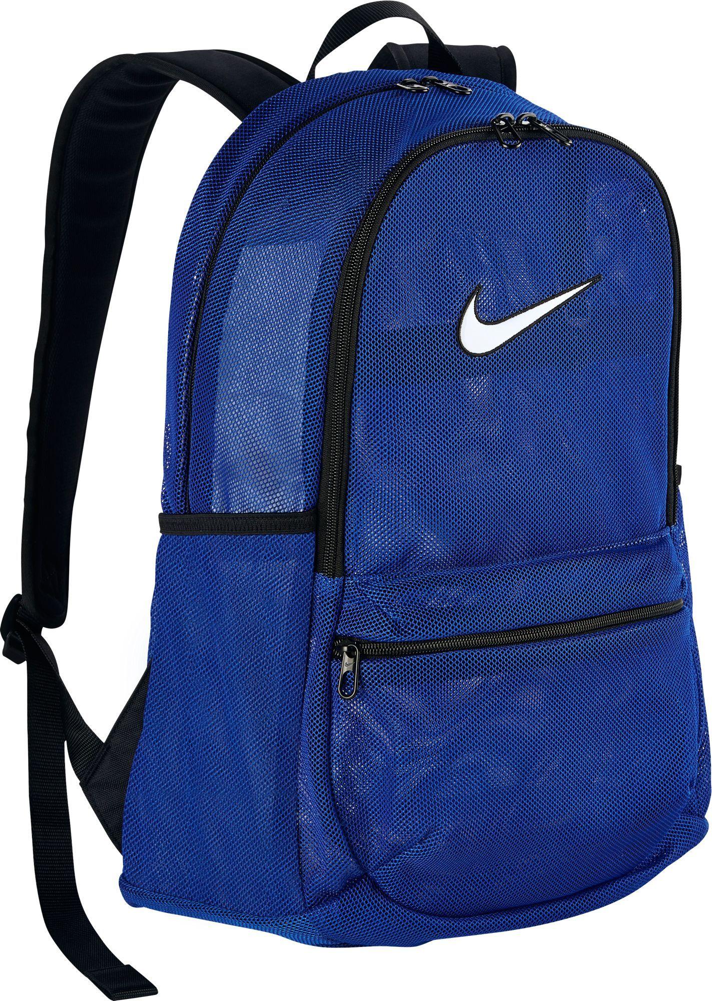 mejor selección de forma elegante vanguardia de los tiempos Nike Brasilia Mesh Backpack | Mesh backpack, Blue backpack, White backpack