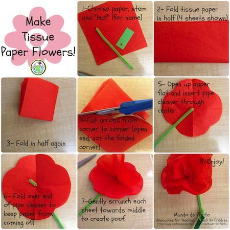 7 steps for making tissue paper flowers arts crafts pinterest blog post 7 steps for making tissue paper flowers mundo de pepita resources for teaching spanish to children mightylinksfo