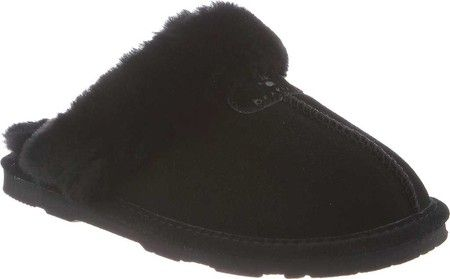 f14ae5fcd3ed Women s Bearpaw Loki II Slipper - Black II Loki II suede slipper from  Bearpaw. Sheepskin lining and footbed fit your feet perfectly and manage  temperature