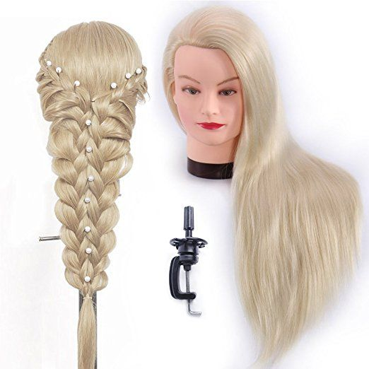 Hairealm 26 Quot 28 Quot Mannequin Head Hair Styling Training Head Manikin Cosmetology Doll Head Synthetic Fib Hair Extensions Best Head Hair Mannequin Heads