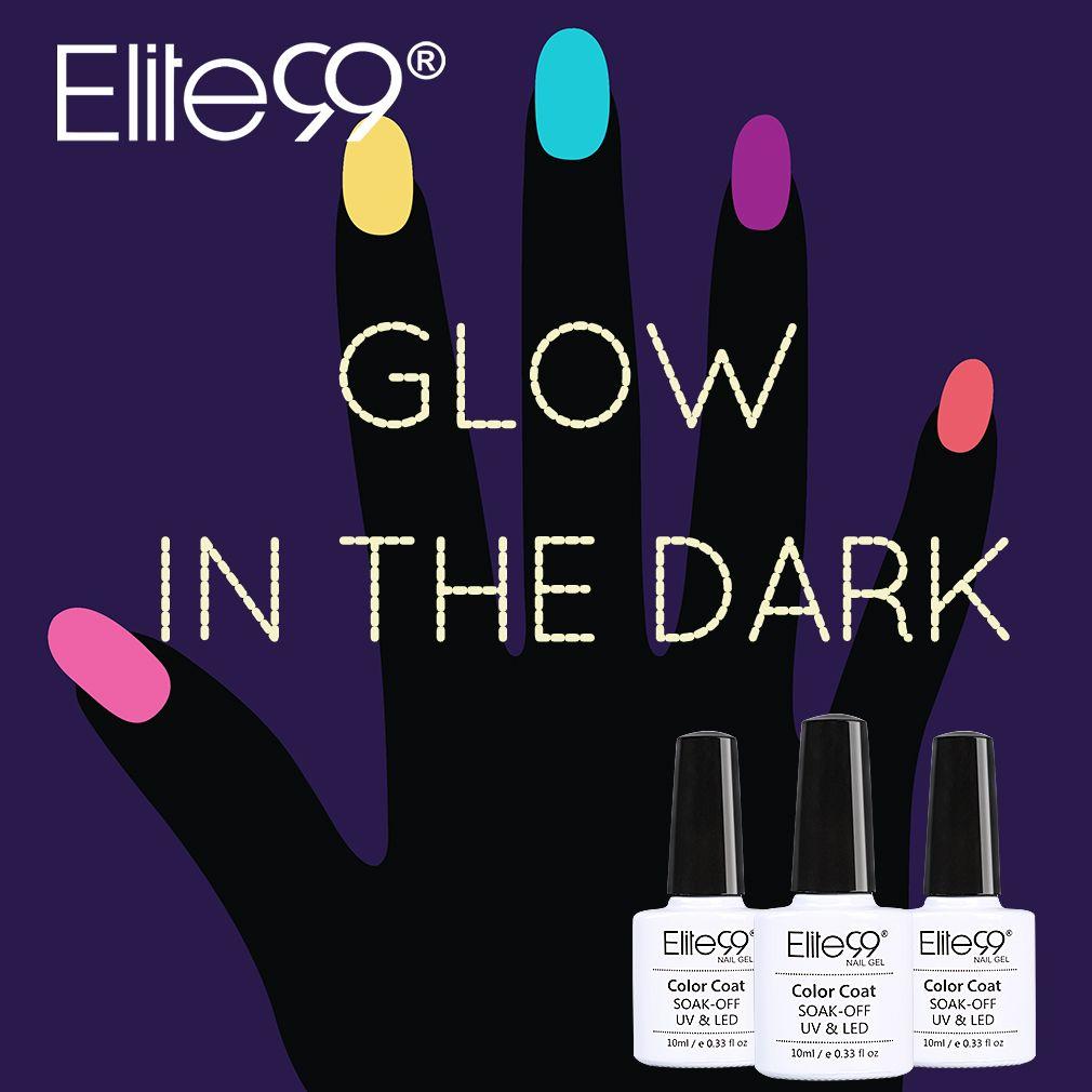 Elite99 10ML Candy Colors Nail Polish Glow in the Dark Nail Polish ...