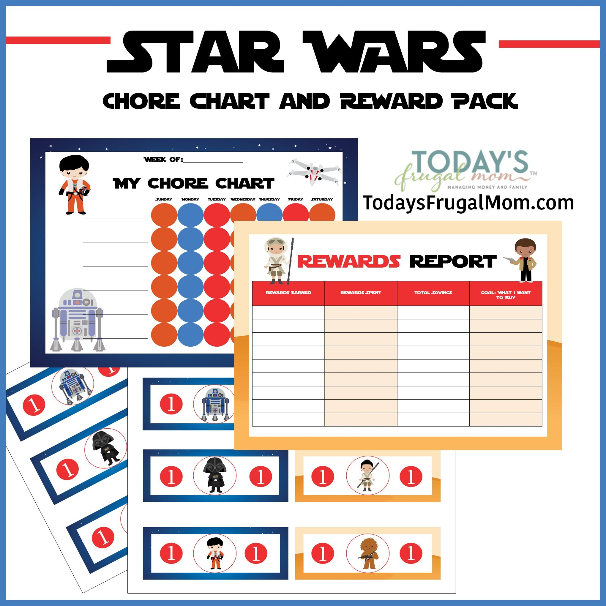 Free Star Wars Chore Chart Reward Pack – Free Reward Charts to Download