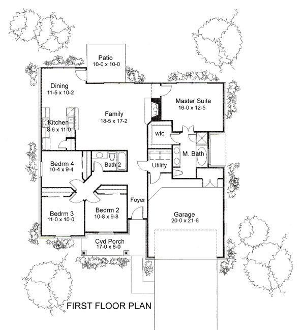 house plan 9401 00041 ranch plan 1 553 square feet 4