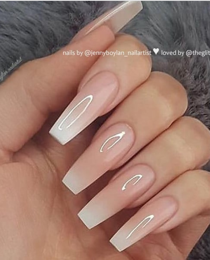 50 Pretty French Pink Ombre And Glitter On Long Acrylic Coffin Nails Design Page 30 Of 53 Latest Fashion Trends For Woman In 2020 Romantic Nails Ombre Acrylic Nails Coffin Nails Ombre