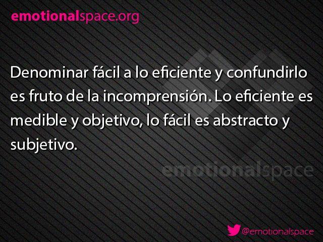 No confundamos, eso sólo conduce a generar mayor confusión #SeEmocional #SeCreativo  emotionalspace.org