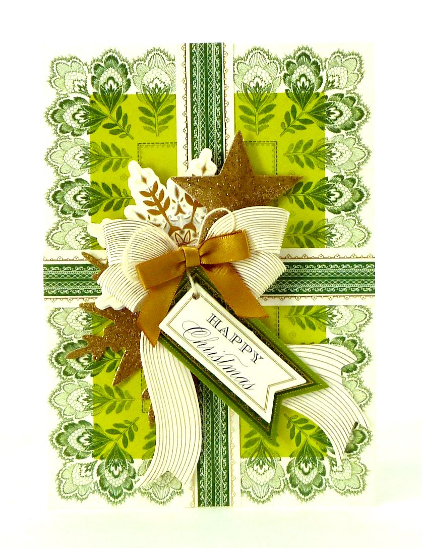 Handmade 3-dimensional Christmas card from the Anna Griffin Holiday Trimmings Card Maki… | Anna ...