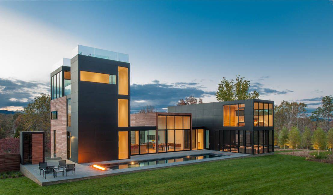 Ein phänomenales Haus versteckt im Wald Countryside, Architects - Haus Modern