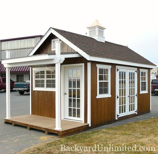Artist Studio Overlooks Guest Cabin With Rooftop Garden: Pin By Backyard Unlimited--California's Amish-Made Sheds