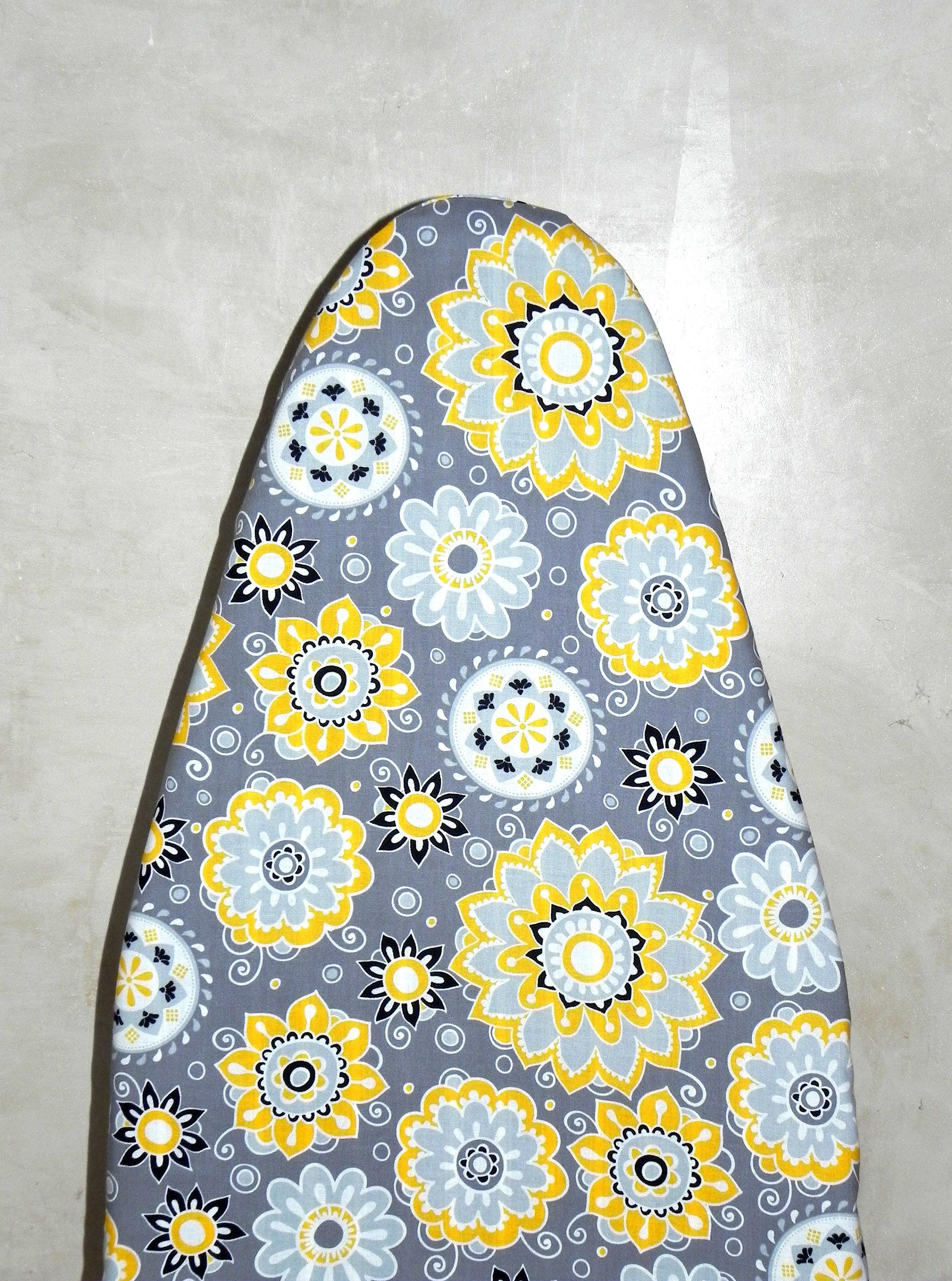 Tabletop Ironing Board Cover   Grey, Yellow, Black And White Flowers    Laundry And Housewares By GaranceCouture On Etsy