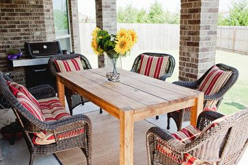 Outdoor Furniture   Mediterranean   Outdoor Tables   Dallas   Rustic Oar Furniture  Company