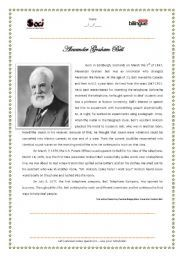 English Worksheet Alexander Graham Bell  Worksheet  Worksheets  English Worksheet Alexander Graham Bell