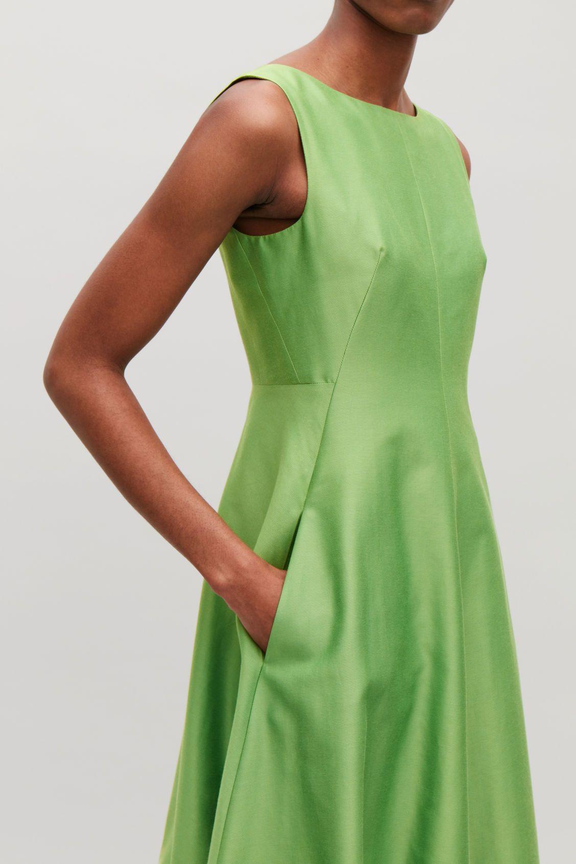 Cos green dress 2018  SLEEVELESS COCOON DRESS  Green  Dresses  COS DK  Платье