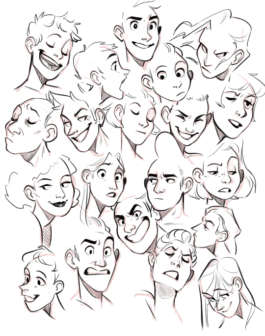 Cartoon ish face hair male boy Drawing expressions, Art