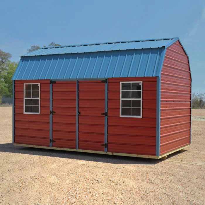 Best Look At This Metal Side Lofted Barn With A Crimson Red 640 x 480
