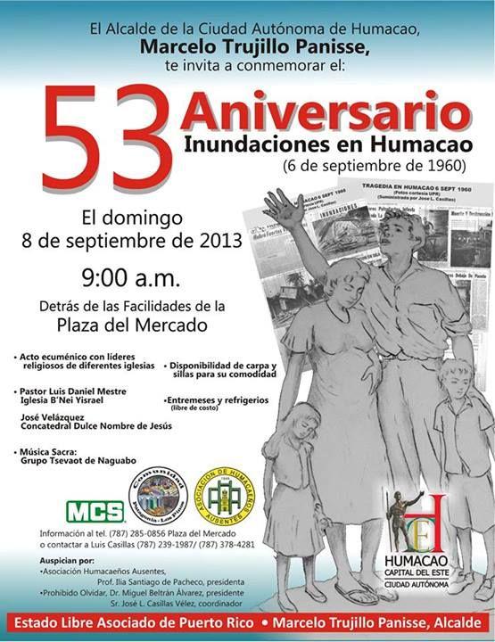 53er Aniversario Inundaciones en Humacao @ Plaza del Mercado, Humacao #sondeaquipr #plazadelmercado #humacao #inundacioneshumacao
