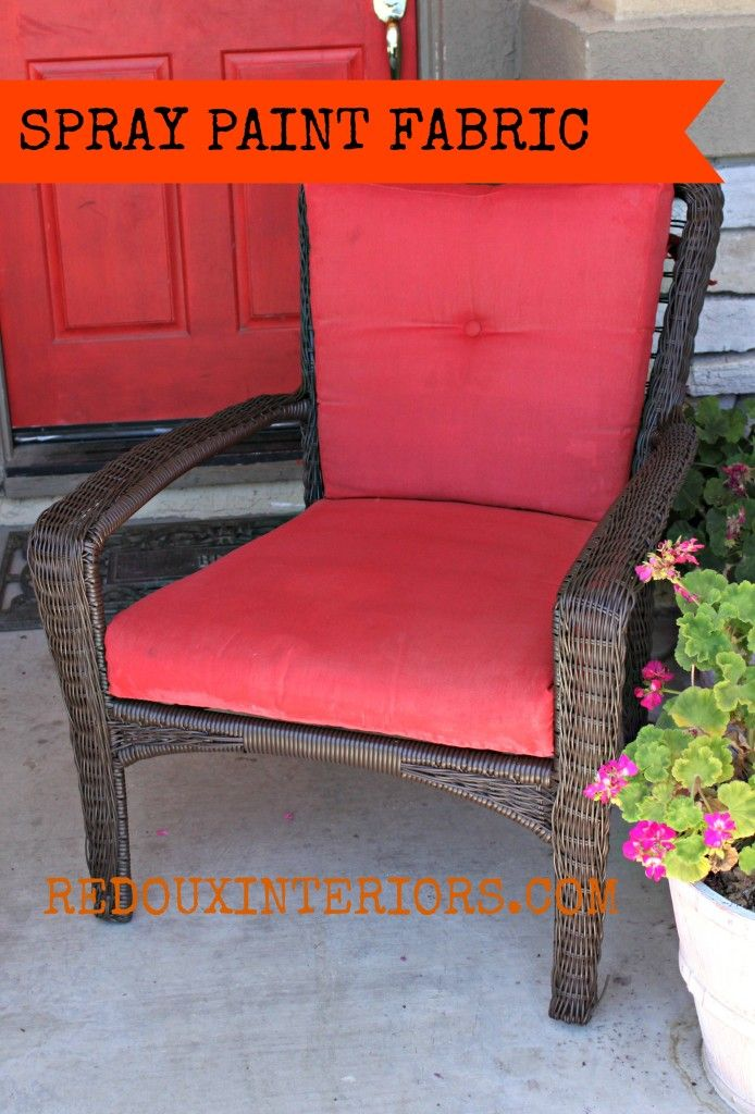 Spray Painted Fabric Painted Outdoor Furniture Painting Fabric