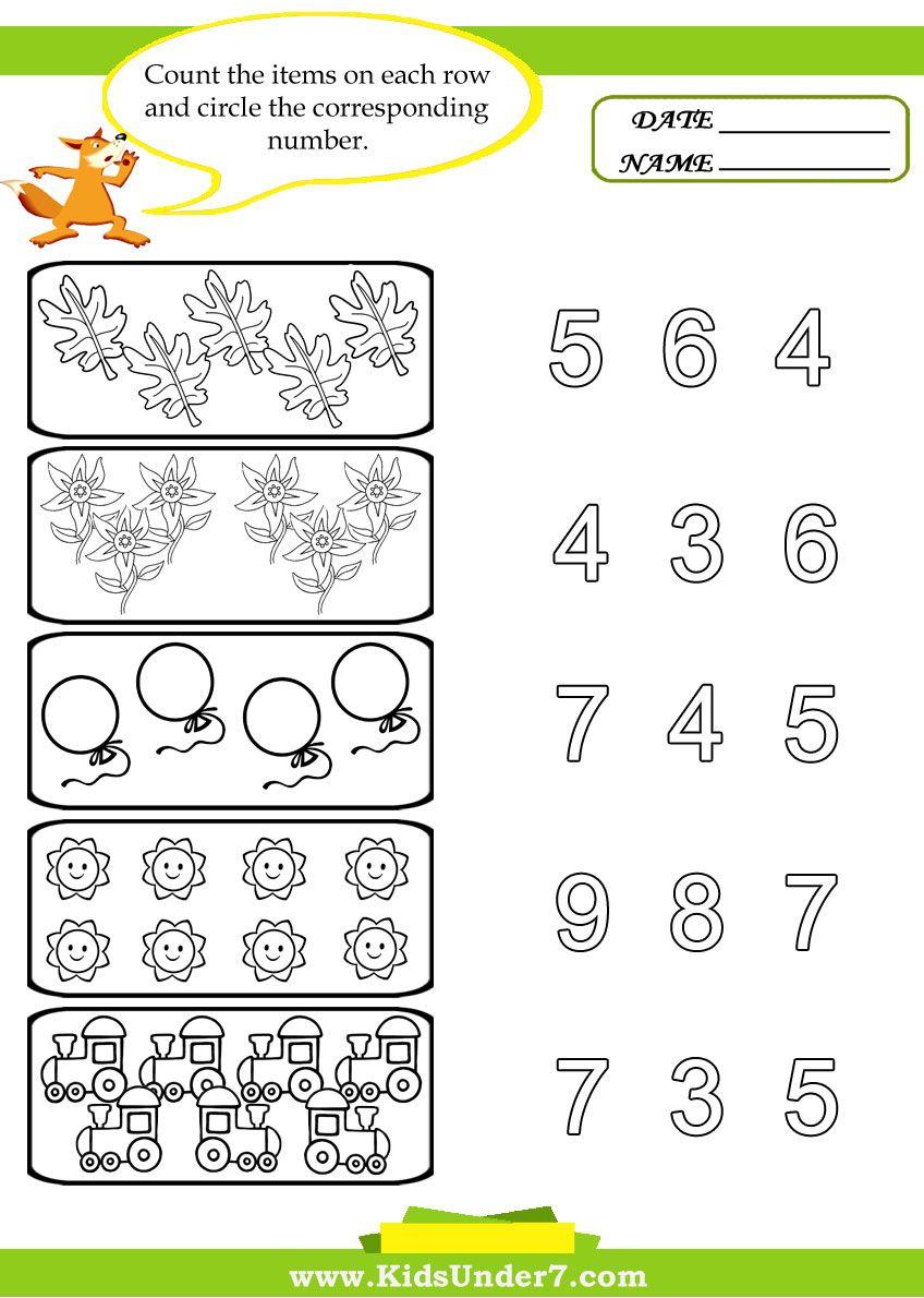 Preschool Counting Printables Preschool Counting Preschool Worksheets Numbers Preschool [ 1190 x 848 Pixel ]