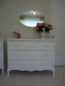 French Provincial Dresser with flowers