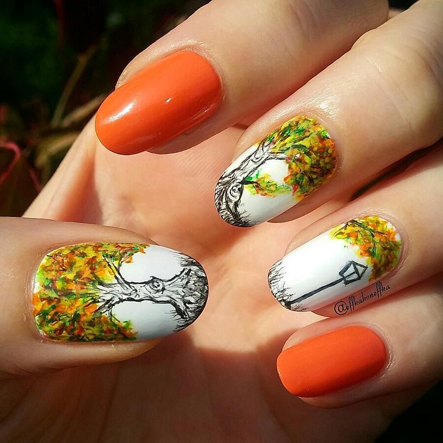 22 Fall Nail Designs to Match Your Pumpkin Spice Latte - - NAILS ...