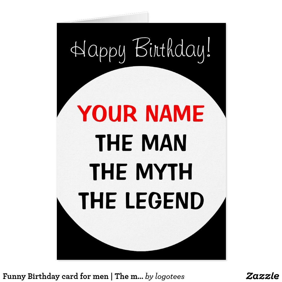 Funny birthday card for men the man myth legend funny greeting funny birthday card for men the man myth legend kristyandbryce Choice Image