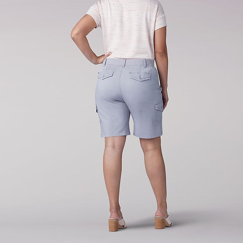 Lee Women S Flex To Go Relaxed Fit Cargo Bermuda Plus Shorts