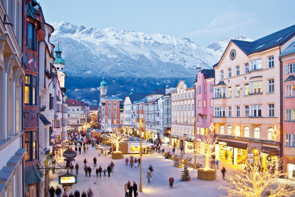 "Innsbruck, Austria...  home of the swarovski headquarters =)...  next time, I would probably go during Christmas time to experience this ""magic"" and ""sparkle"" type feeling of the city!  If I could, I'd LIVE here..."