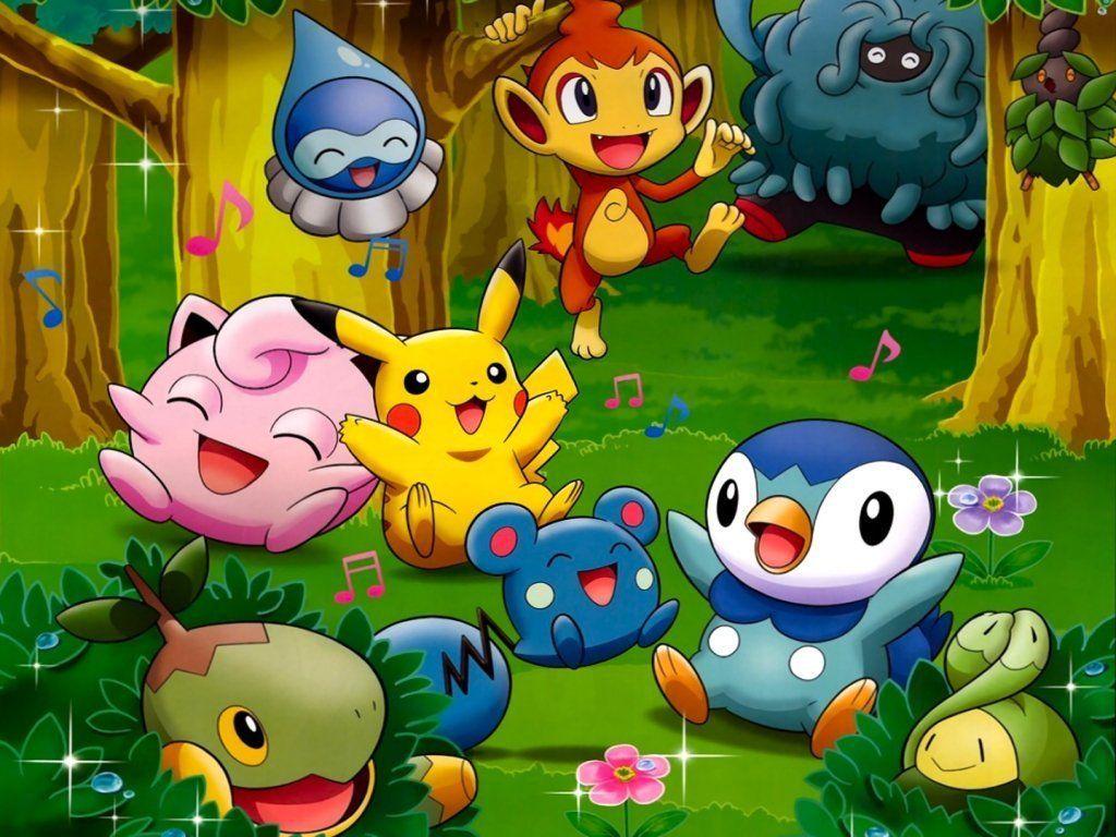 Pokemon Bedroom Wallpaper Cute Pokemon Piplup And Friends Water Pokemon Club Wallpaper