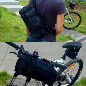 8902f395fd8 Multi ciclismo Bike bicicleta bolsa marco de la bolsa frontal de maletas  mochilas cintura hombro bolsas
