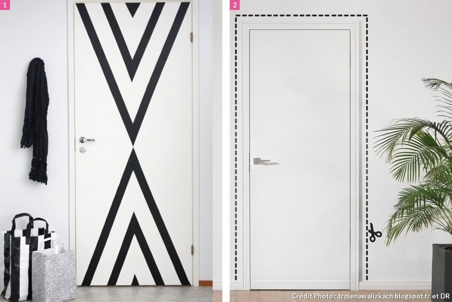 5 astuces pour personnaliser ses portes Masking tape and Walls