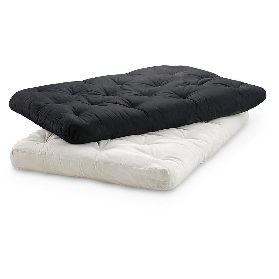 Premier Full Futon Mattress Black Or Natural Thick Comfort