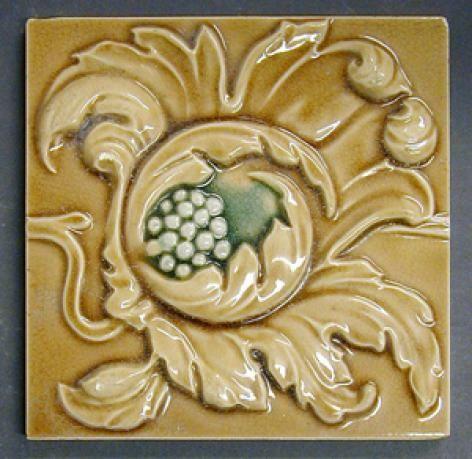 Craven Dunnill And Co Continuous Vertical Floral Design Ironbridge Gorge Museum Floral Design Design Floral