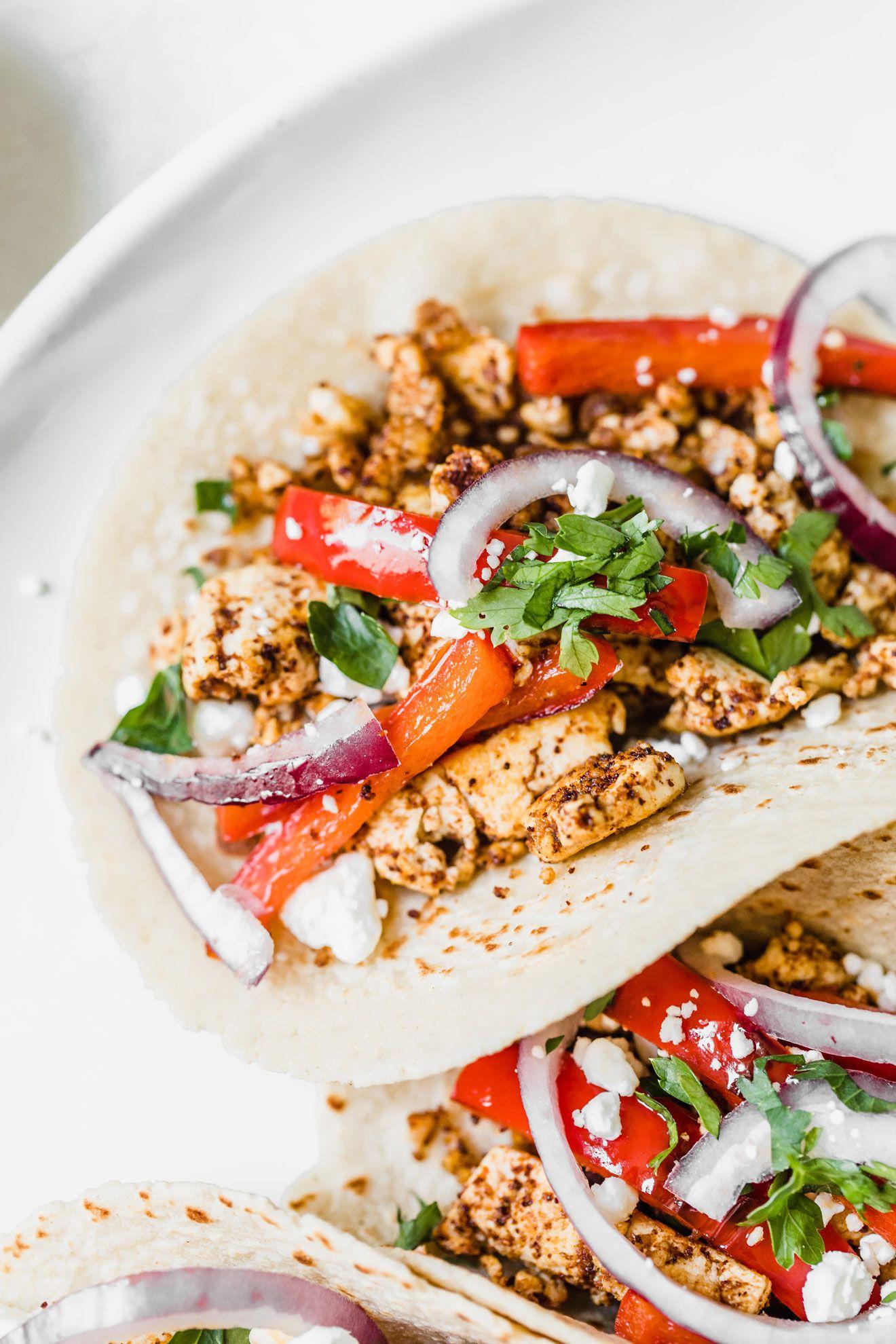 Spicy Vegetarian Tofu Tacos images