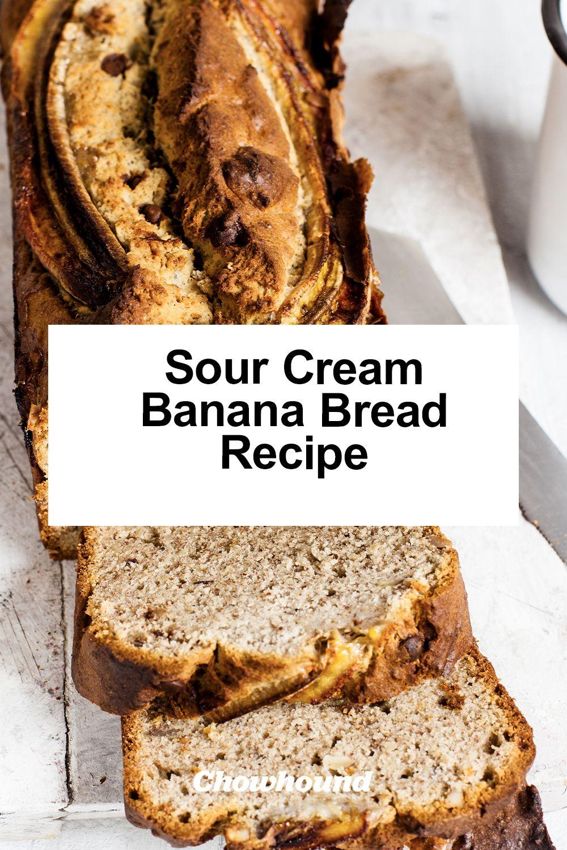 Sour Cream Banana Bread Recipe Recipe In 2020 Sour Cream Banana Bread Recipes Bread