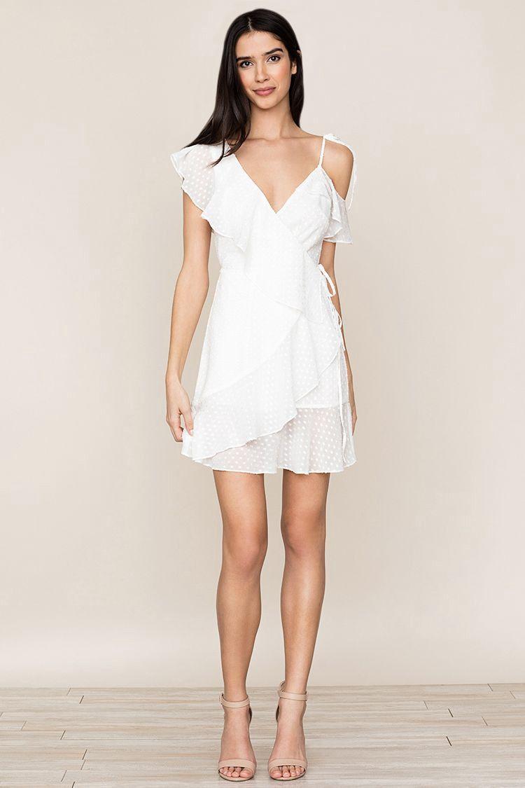 Sheer bliss dress swiss dot white by yumi kim vestidos dress