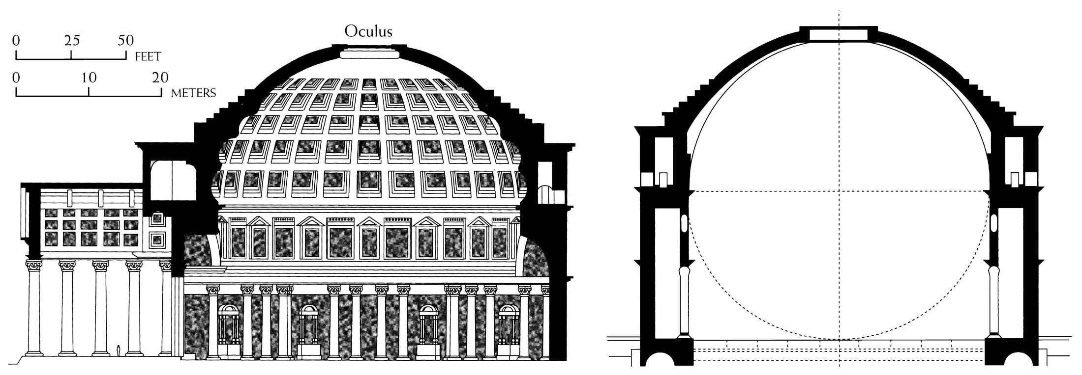 how to draw a cross section view