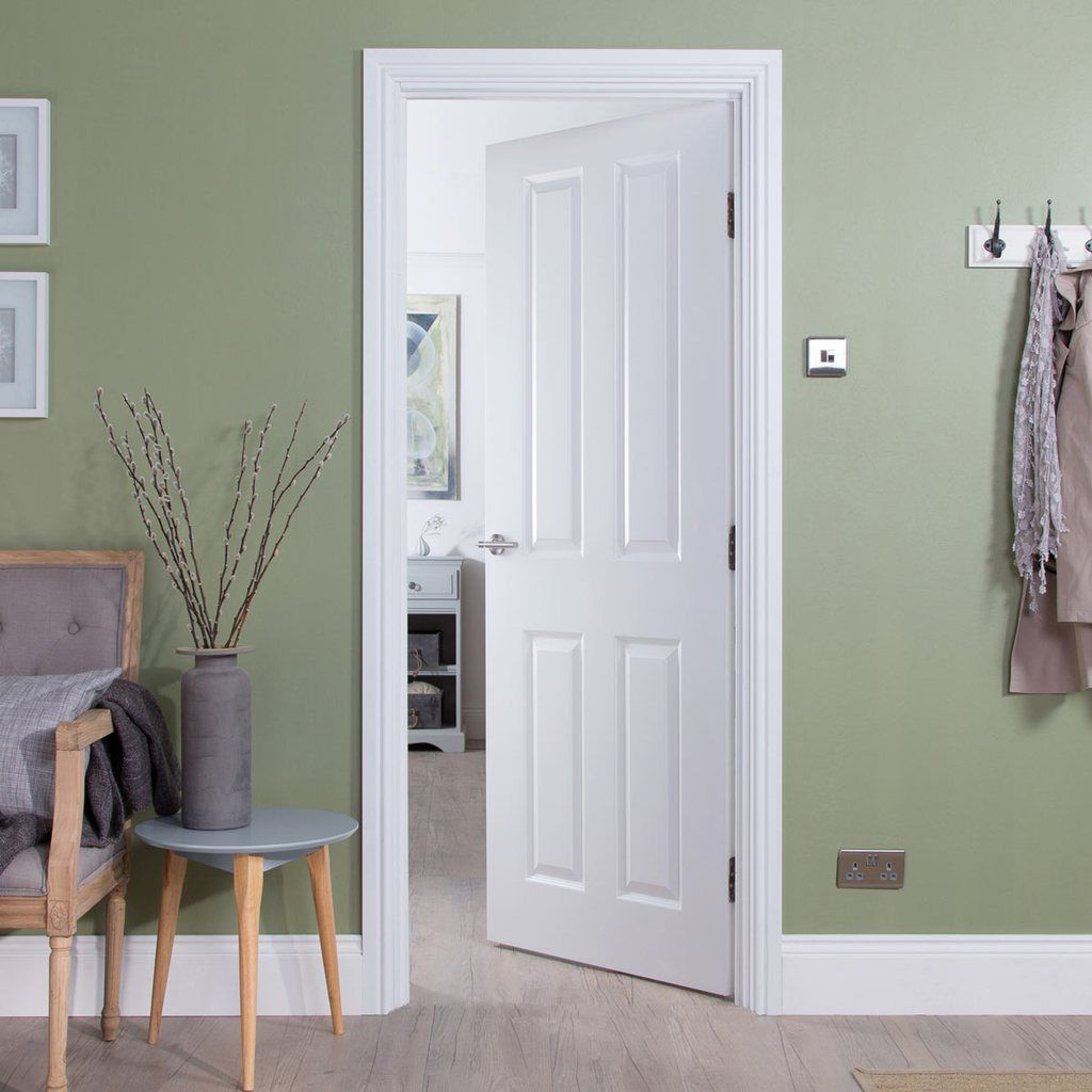 We Deliver For Free To Most Uk Mainland Postcodes This Contemporary Take On The Classic Four Panelled Door Ma Doors Interior Elegant Interiors Internal Doors
