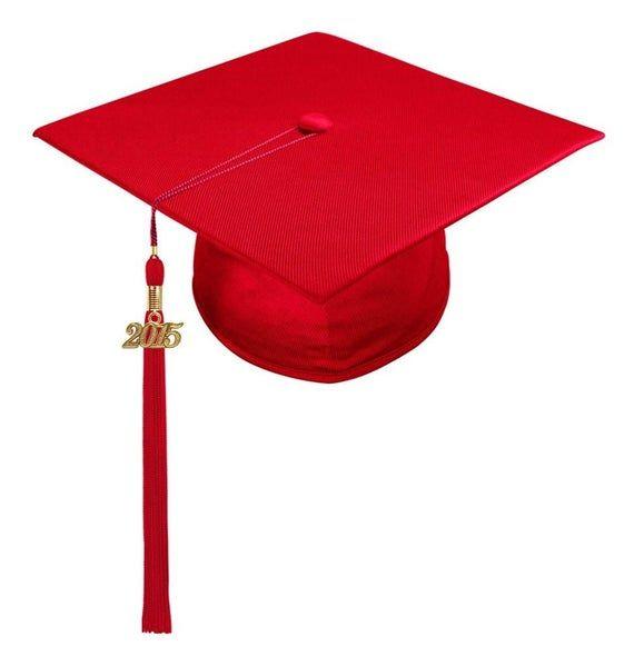 Shiny Red Graduation Cap And Tassel All Tassel Colors Etsy In 2021 Child Graduation Cap Red Graduation Cap Graduation Cap Tassel