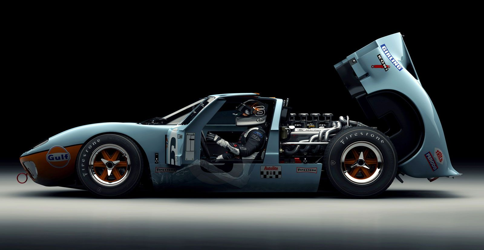 A Ford Gt40 Render So Beautiful It Ll Make You Dream In Pixels
