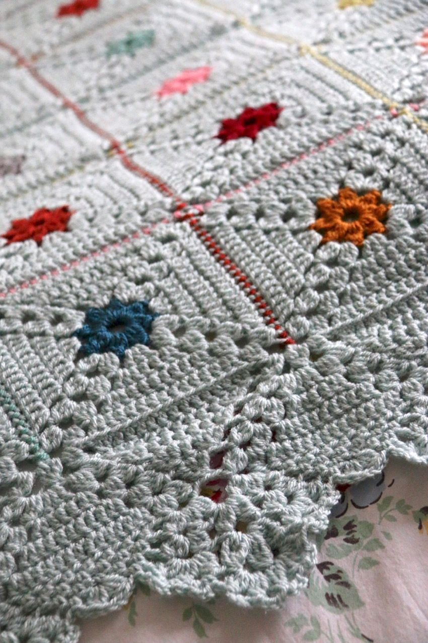 My Forget Me Not Dots Blanket pattern is here! | Häkeln Decken und ...
