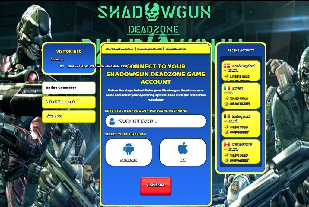 Shadowgun Deadzone hack cheats unlimited GOLD and CASH ...